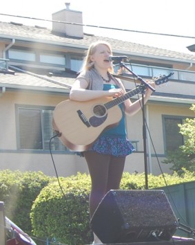 Performing at the Lonsdale Spring Celebration